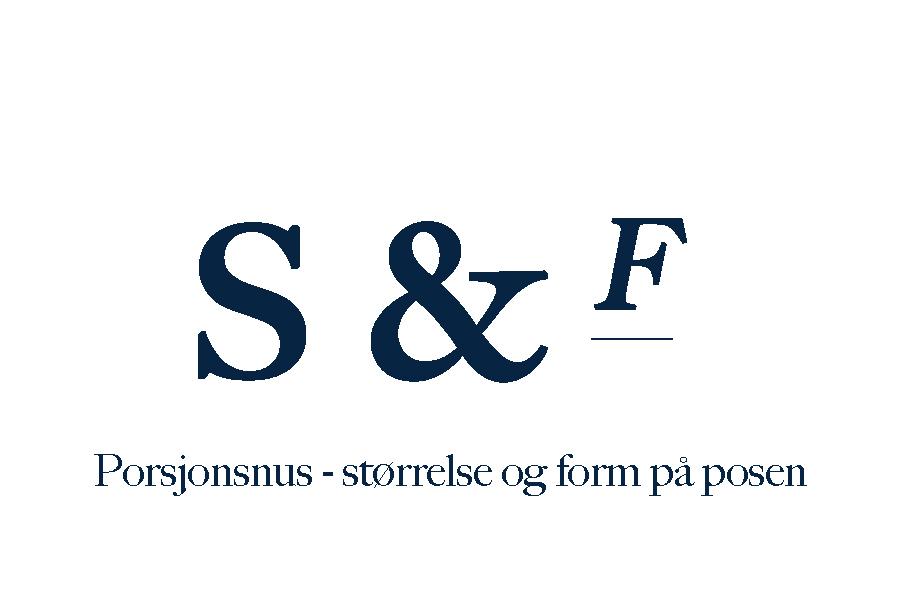 Porsjonsnus – størrelse og form på posen
