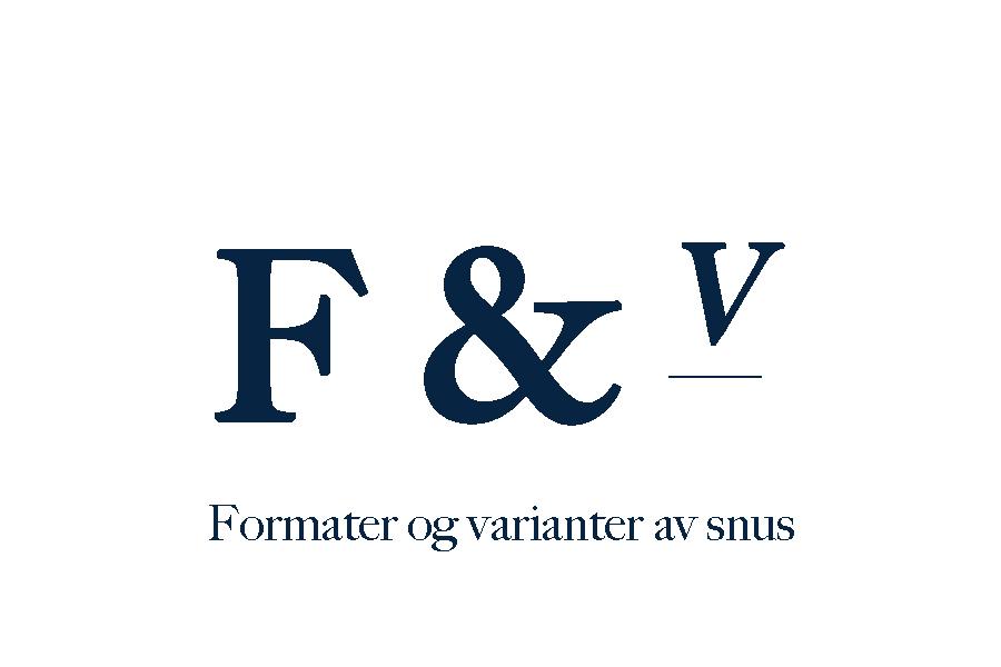 Snus – format og varianter